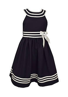 Bonnie Jean Striped Nautical Dress Girls 7-16
