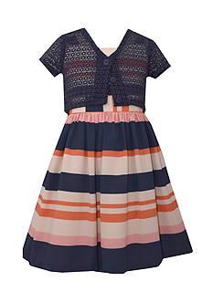 Bonnie Jean Striped Dress and Cardigan Girls 7-16