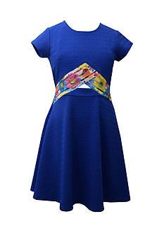Bonnie Jean Peekaboo Skater Dress Girls 7-16 Plus