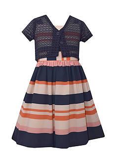 Bonnie Jean Striped Dress and Cardigan Set Girls 7-16 Plus