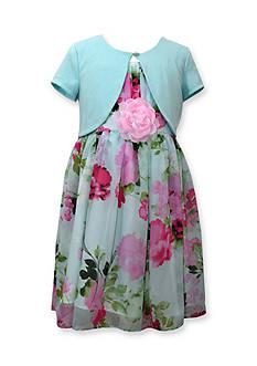 Bonnie Jean Cardigan and Floral Print Dress Girls 7-16 Plus