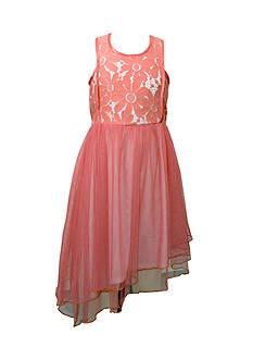 Bonnie Jean Asymmetrical Lace Dress Girls 7-16 Plus