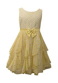 Bonnie Jean Polka Dot Chiffon Gown Girls 7-16 Plus