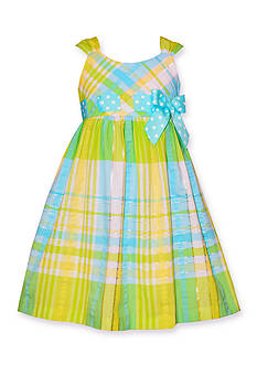 Bonnie Jean® Sleeveless Seersucker Ribbon Dress Girls 4-6X