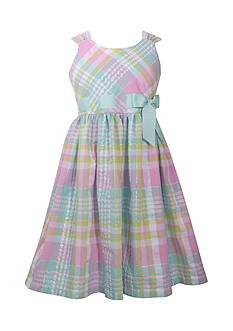 Bonnie Jean Plaid Seersucker Dress Girls 4-6x