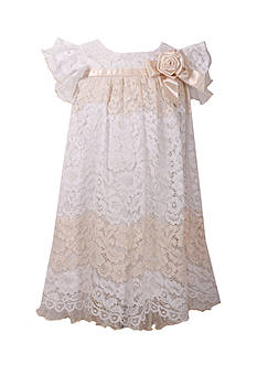 Bonnie Jean Ivory White Lace Dress Girls 4-6x
