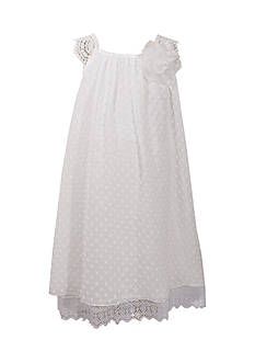 Bonnie Jean White Lace Trim Float Girls 4-6x