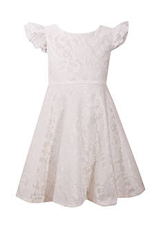 Bonnie Jean White Bonded Lace Heartbreak Dress Girls 4-6x