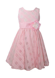 Bonnie Jean Plaid Organza Dress Girls 4-6x