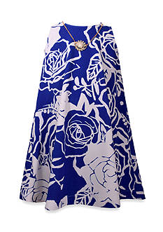 Bonnie Jean Floral Printed Swing Dress Girls4-6x