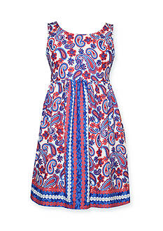 Bonnie Jean® Paisley Americana Dress Girls 7-16