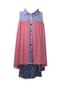 Bonnie Jean American Shirt Dress Girls 7-16