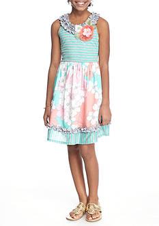 Bonnie Jean Stripe Floral Dress Girls 7-16