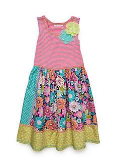 Bonnie Jean Knit Floral Dress Girls 7-16