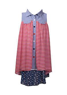 Bonnie Jean American Shirt Dress Girls 7-16 Plus