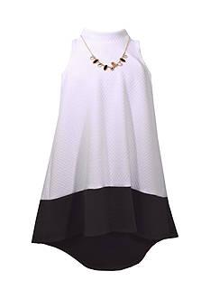 Bonnie Jean Mock Neck Knit Dress Girls 7-16 Plus