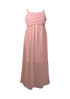 Bonnie Jean Sheer Chiffon Maxi Dress Girls 7-16 Plus