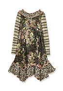 Bonnie Jean Mixed Floral and Stripe Dress Girls