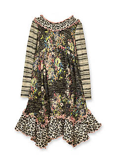 Bonnie Jean Mixed Floral and Stripe Dress Girls 4-6x