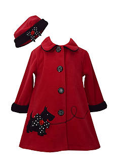 Bonnie Jean Scottie Fleece Coat Girls 4-6x