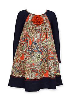 Bonnie Jean Floral Trapeze Front Flower Dress Girls 7-16