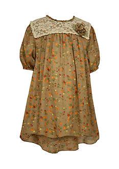 Bonnie Jean Floral Chiffon Lace Dress Girls 7-16