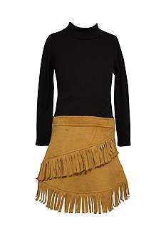 Bonnie Jean Rib Drop Waist To Suede Dress Girls 7-16
