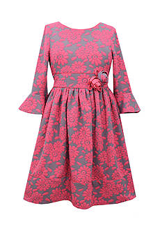 Bonnie Jean Floral Knit Dress Girls 7-16 Plus