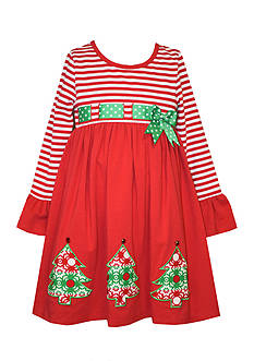 Bonnie Jean Christmas Tree Dress Girls 4-6x