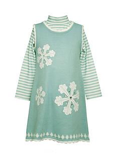 Bonnie Jean Snowflake Sweater Dress Girls 4-6x