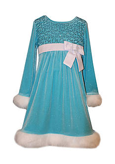 Bonnie Jean Sequin Holiday Dress Girls 4-6x