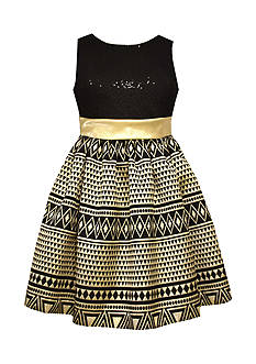 Bonnie Jean Jacquard Dress Girls 4-6x