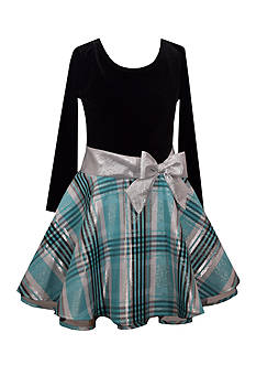 Bonnie Jean Plaid Drop Waist Dress Girls 4-6x