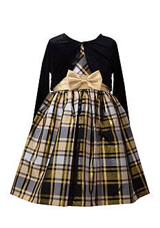 Bonnie Jean Solid Jacket and Plaid Dress Girls 4-6x