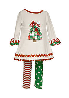 Bonnie Jean Christmas Tree Legging Set Girls 7-16