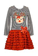 Bonnie Jean Reindeer Dress Girls 7-16
