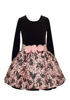Bonnie Jean Velvet Floral Dress Girls 7-16
