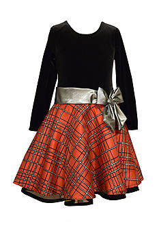 Bonnie Jean Drop Waist Plaid Dress Girls 4-16