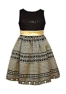 Bonnie Jean Aztec Zequin Dress Girls 7-16