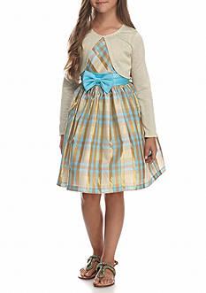 Bonnie Jean A-Line Dress with Cardigan 2-Piece Set Girls 7-16