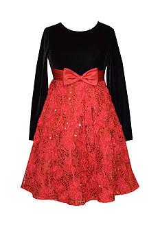 Bonnie Jean Velvet Holiday Dress Girls 7-16 Plus