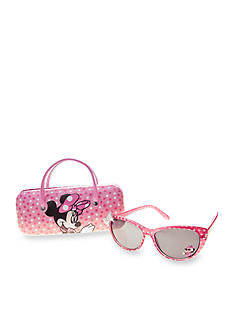 Riviera Minnie Mouse Cat Eye Sunglasses With Case Set Girls 4-6x