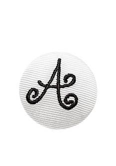 Riviera 'A' Grosgrain Button Pin