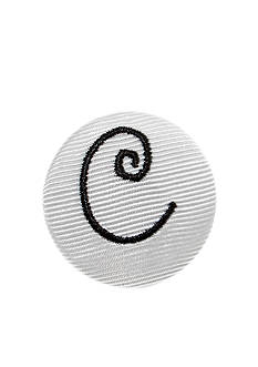 Riviera 'C' Grosgrain Button Pin