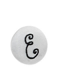 Riviera 'E' Grosgrain Button Pin