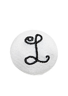 Riviera 'L' Grosgrain Button Pin
