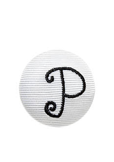 Riviera 'P' Grosgrain Button Pin