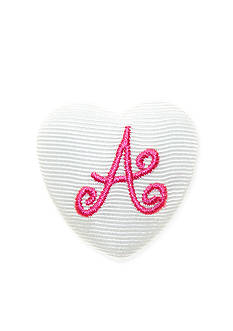 Riviera Monogram 'A' Heart Button
