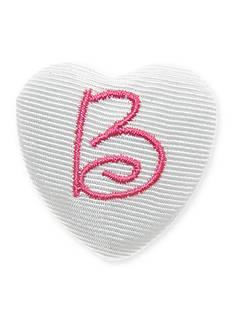 Riviera Monogram Heart Hair Button