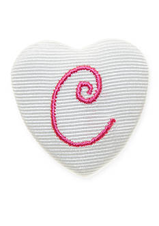 Riviera Monogram Heart Hair Button